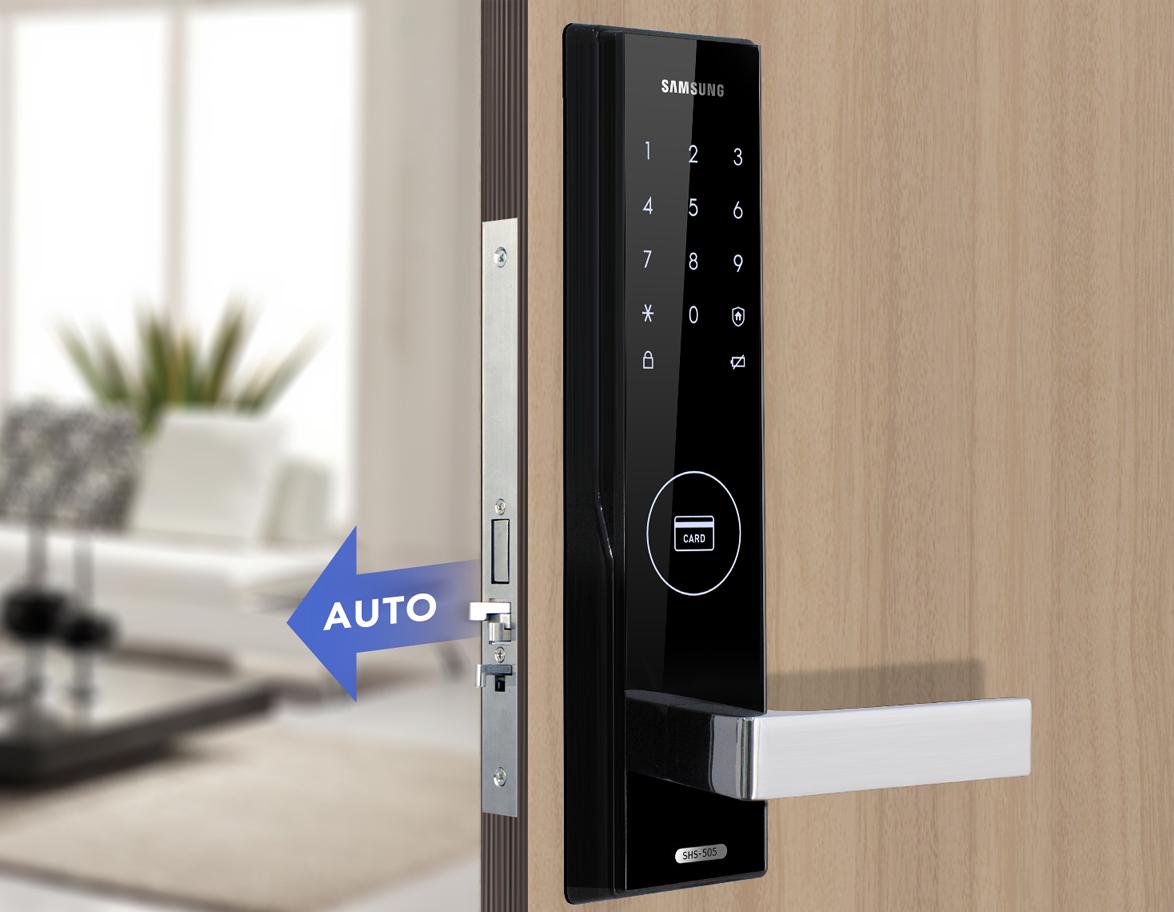 Khóa cửa điện tử Samsung SHS H505 - Thiết kế đẹp sang trọng