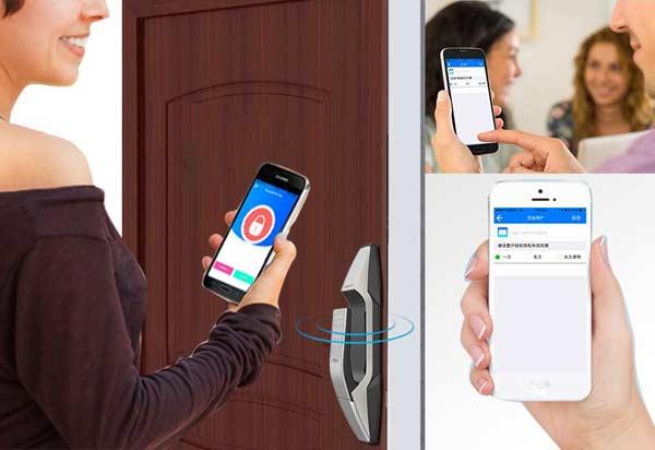 Mở khóa bằng bluetooth thông minh kết nối điện thoại