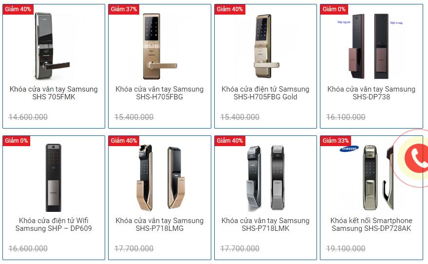 Top những mẫu khóa Samsung tốt nhất giai đoạn 2015-2020
