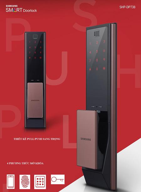 Khóa cửa vân tay Samsung SHS-DP738